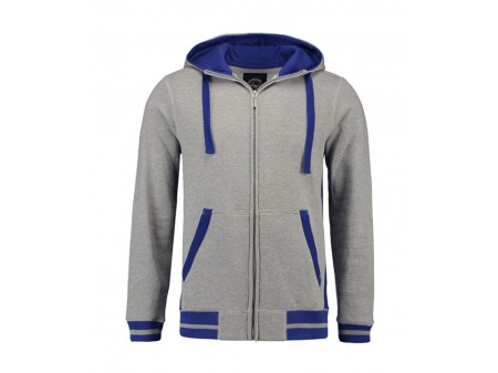 Grey Heather - Royal Blue