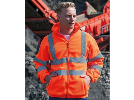 Hi-vis full zip fleece